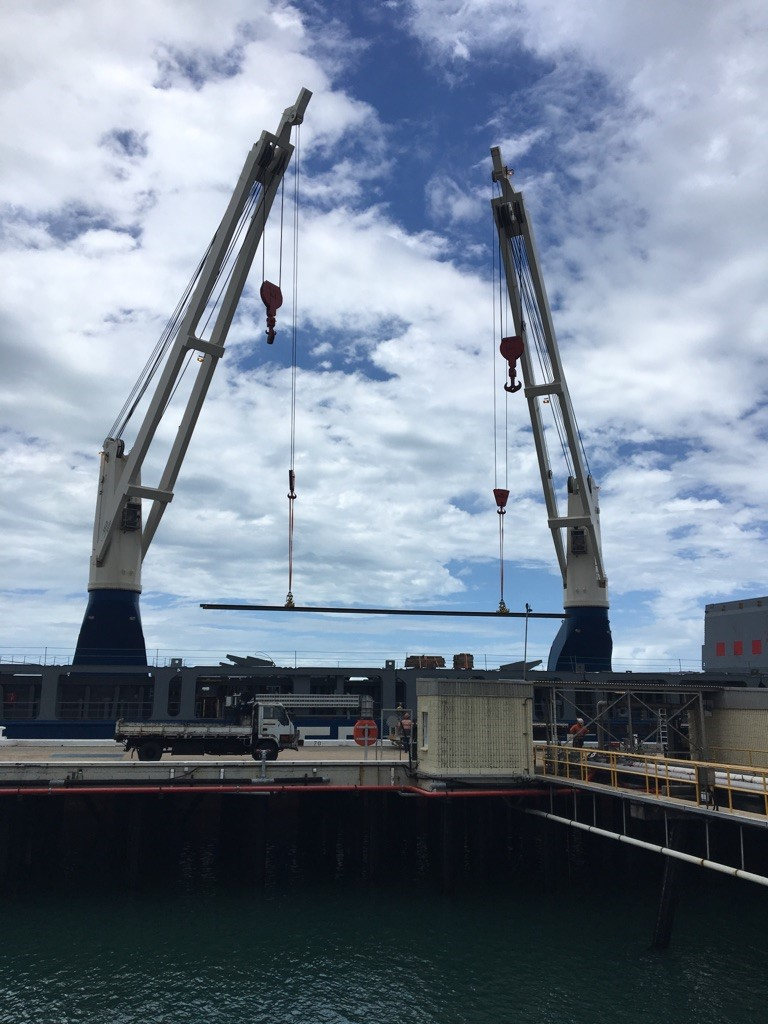 NSS Mackay unloads tonnes of track