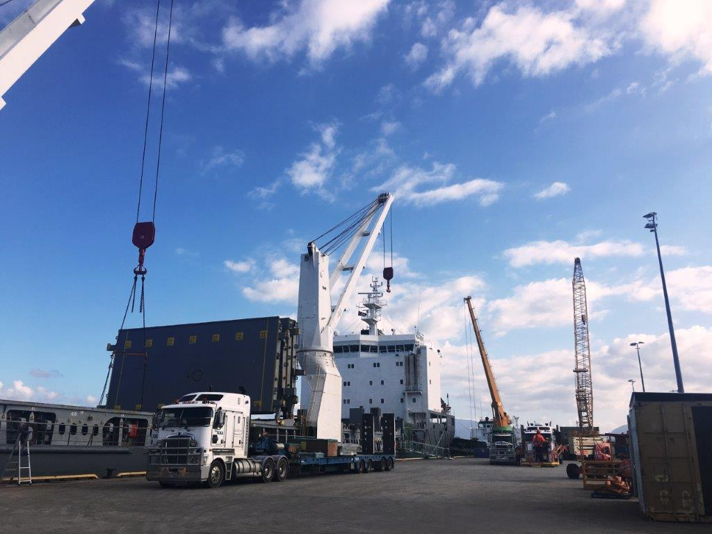 Power project components arrive in Cairns