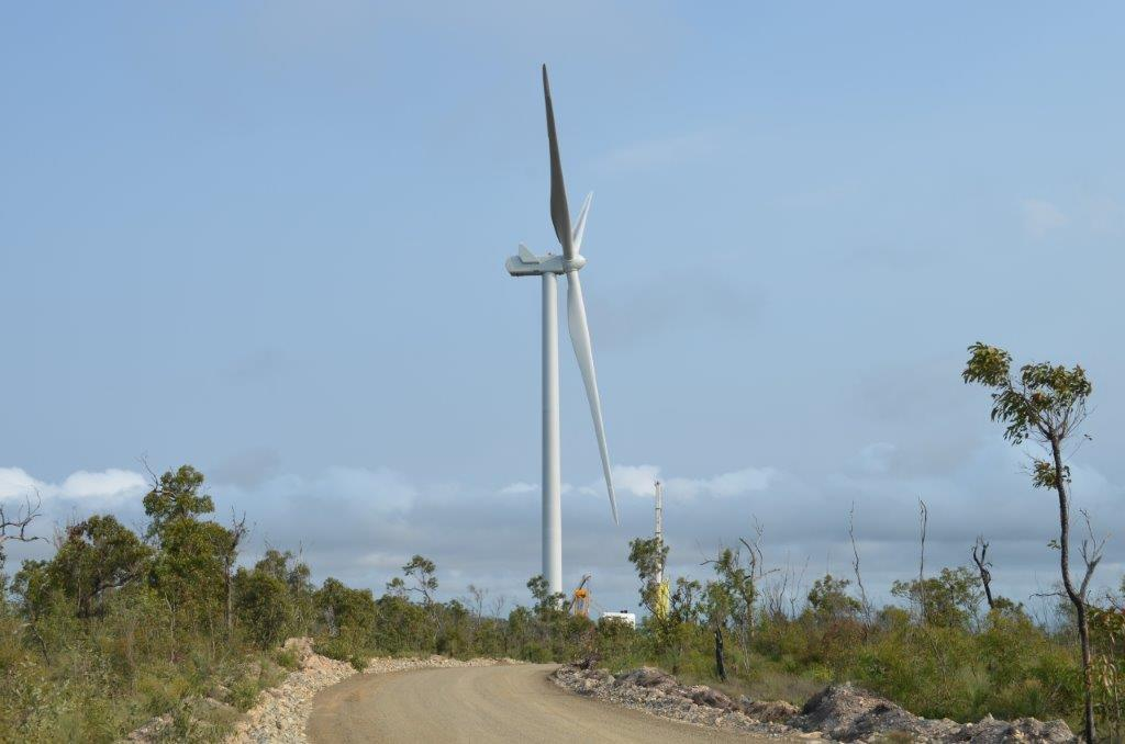 First turbine up at Mount Emerald